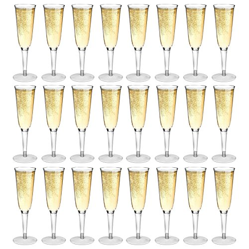 Rink Drink Plastic Outdoor Champagne Flutes - Pack Of 24