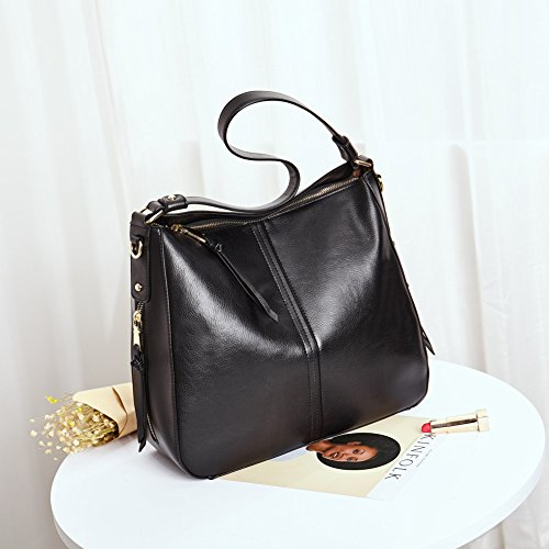 Sale Handle Hobo Designer Bag Shoulder Clearance Purse Women's Top Ladies Bag Tote Handbag Black Leather 47dnCwqa