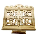 FengMicon Religious Book Holder Stand Oak Wood Carve 11 Inch