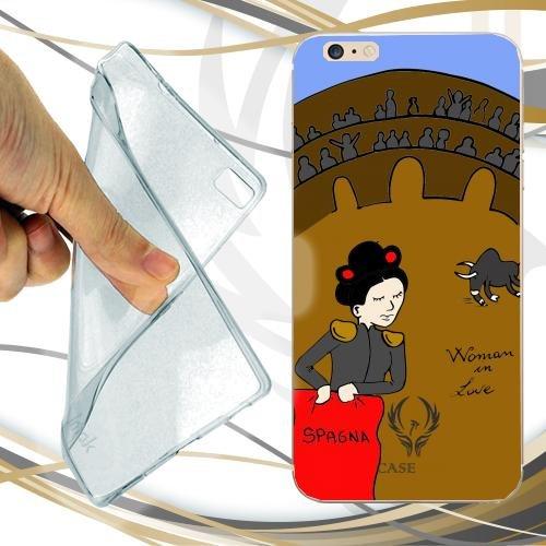 CUSTODIA COVER CASE CASEONE WOMAN IN LOVE SPAGNA PER IPHONE 7