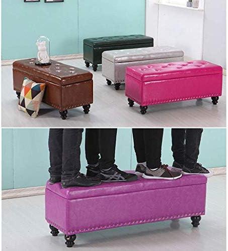 WYJQZ Fußbank, Ottomane Storage Box Polster Pouffe Mode Luxuxsofa Bank-Sitz Platzsparend Max Last 300kg Hocker (Size : 60 * 40 * 45cm)