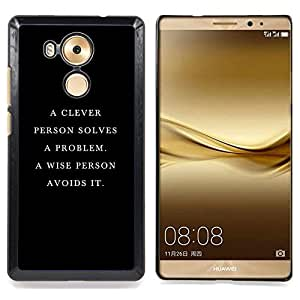 Eason Shop / Premium SLIM PC / Aliminium Casa Carcasa Funda Case Bandera Cover - Cita Negro Elegante Profundo - For HUAWEI Ascend MATE 8