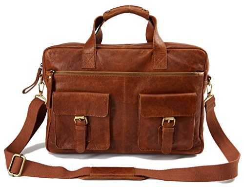 Rawlings Rugged Briefcase, Cognac, One Size by Rawlings