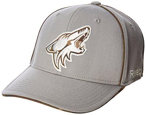 NHL Arizona Coyotes Men's SP17 Gray Camo Structured Flex Cap, Gray, - Cap Flex Structured