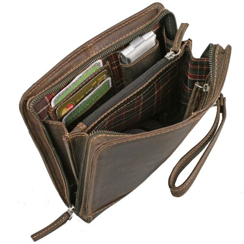 Greenland Westcoast Herrentasche Leder 24 cm
