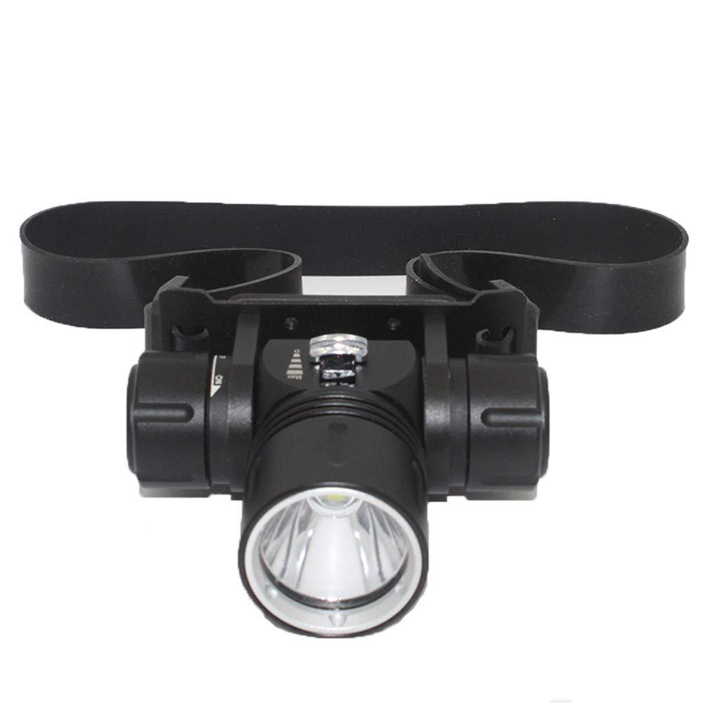 Unterirdische Bergmannlampe L2, Wasserdichter Scheinwerfer Mit LED-Blendung, Tauchkopfscheinwerfer Mit Kopfbefestigung,Schwarz,A