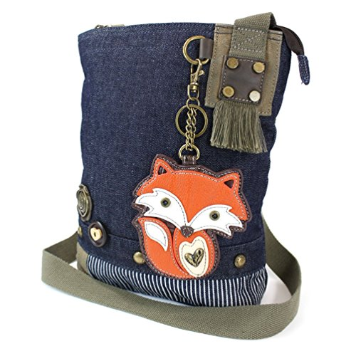 con Chala portachiavi Foxy Handbag Fox Crossbody Denim Canvas Purse 117rXq