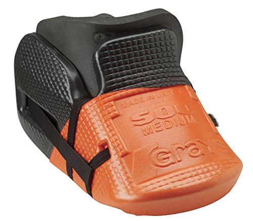 Grays Hockey oficial G500 acolchados Triple laminado espuma adamantoblasto portero Kicker negro/naranja Talla:mediano