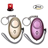 Tools & Hardware : Personal Alarm for Women 140DB Emergency Self-Defense Security Alarm Keychain with LED Light for Women Kids and Elders-2 Pack