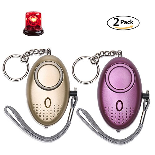 Personal Alarm for Women 140DB Emergency Self-Defense Security Alarm Keychain with LED Light for Women Kids and Elders-2 Pack Loop Alarm Belt