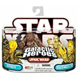 : Star Wars Galactic Heroes Chewbacca & Disassembled C-3PO Figures