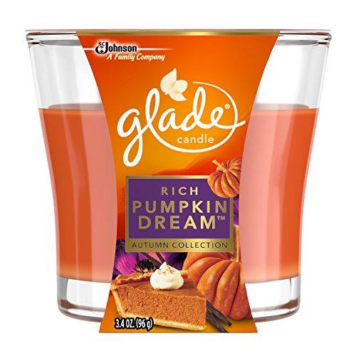 Glade Jar Candle Air Freshener, Rich Pumpkin Dream, 3.4 Ounce