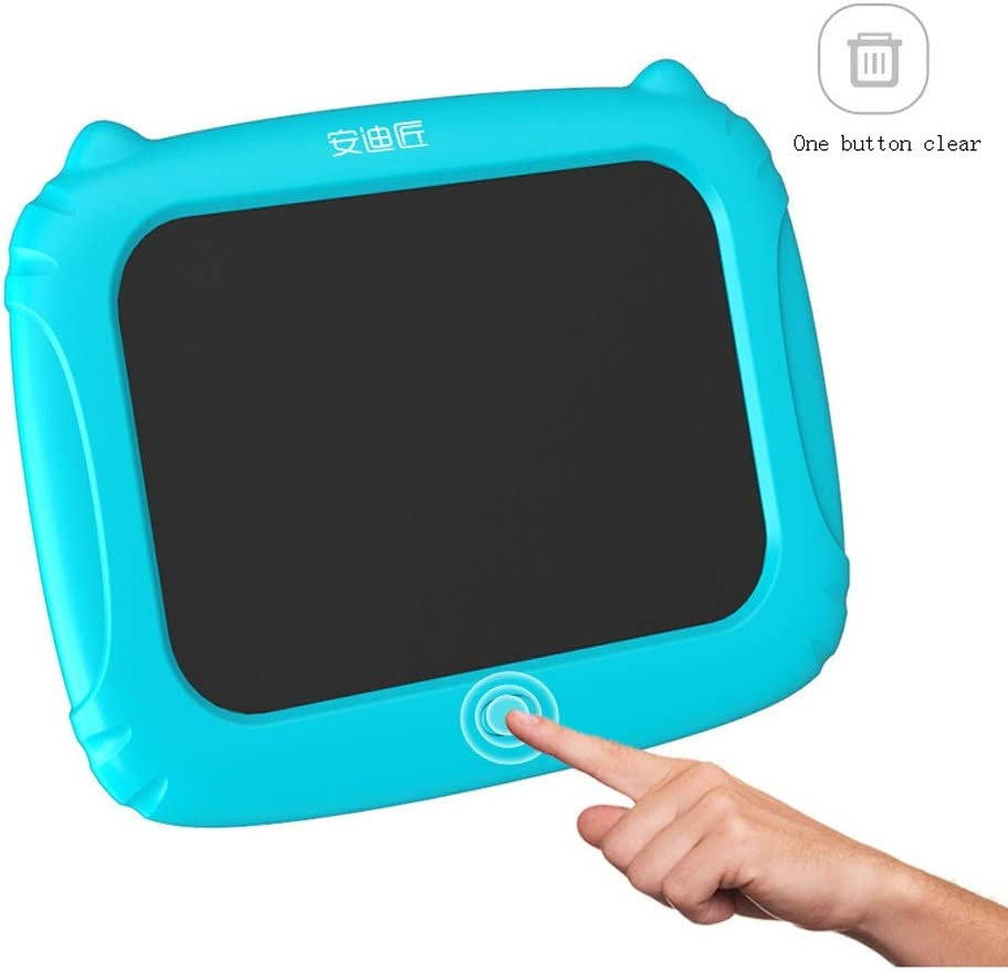 Fighrh Childrens LCD Handwriting Board 8.5 Inch Eye Protection Dust Free Small Blackboard Draft Doodle Drawing Board Digital Graphic Sketchpad Childrens Gift Color : Orange