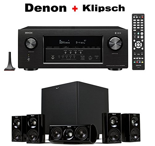 DENON AVR-S930H 7.2 Channel Full 4K Ultra HD Network AV Receiver + Klipsch HDT-600 Home Theater System Bundle