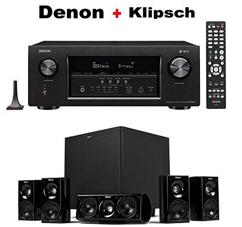 DENON AVR-S930H 7.2 Channel Full 4K Ultra HD Network AV Receiver + Klipsch HDT-600 Home Theater System Bundle