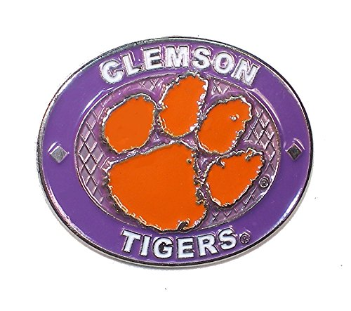 - aminco NCAA Clemson Tigers Oval Pin, Team Color, 4