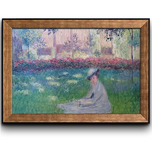 Woman in a Garden by Claude Monet Framed Art