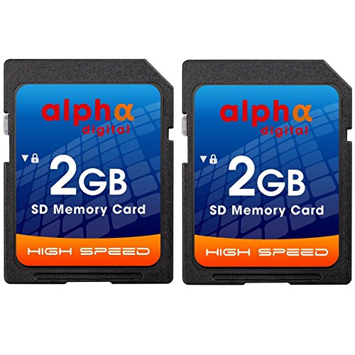 2GB SD Card [Twin Pack] for NIKON Coolpix S7000, S6900, P530 P600, A10 A300 W100 W300 A900 B500 B700 L830 P610 P700 3200 L22 S210 L840 L830 L820 L620 L610 (Speed 2gb Sd Card)