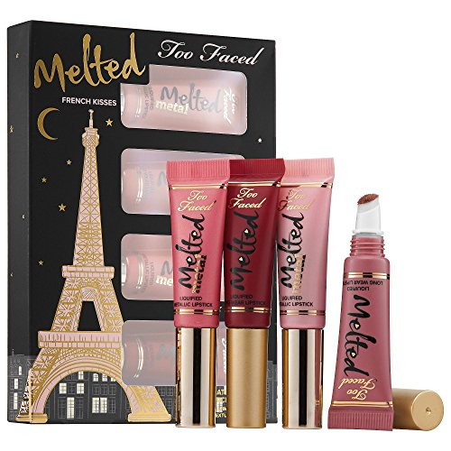Too Faced French Kisses Melted Liquified Lipstick Set New...