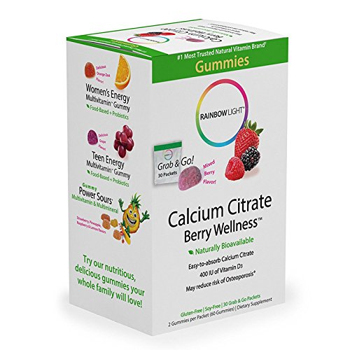 Rainbow Light - Calcium Citrate Chocolate Chewable - Food-Based Calcium Supplement Supports, Bone Muscle, Immune, and Heart Health; 1000mg Calcium, 500mg Magnesium, 1000 IU Vitamin D3 - 45 Tablets