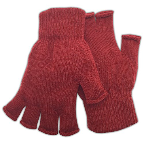 Winter Fingerless Gloves Warm Half Finger Knitted -Unisex Standard Size Assorted Colors