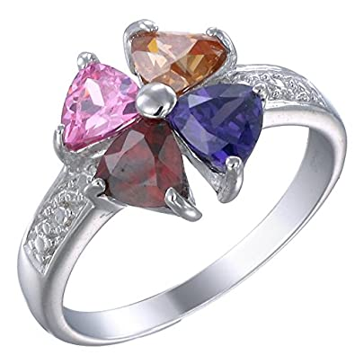 Vir Jewels Sterling Silver Multi-Gemstone Ring