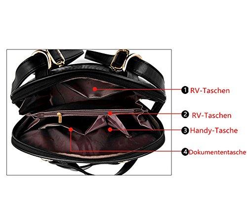 Wewod Mochilas Escolares Mochila de a Diario Mochilas Tipo Casual Bolso de Escuela para Mujer 30 x 31 x 15 cm (L X H x W ) Negro-B