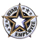 Star Employee Appreciation Award Lapel Pin, 12 Pins