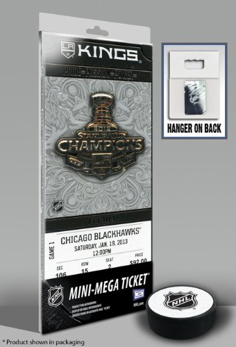 2012 NHL Stanley Cup Champions Banner Raising Mini-Mega Ticket - Los Angeles Kings