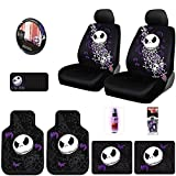 New 12 Pieces Nightmare Before Christmas Jack Skellington Car Truck SUV Seat Covers Floor Mat Set with Travel Size Purple Slice