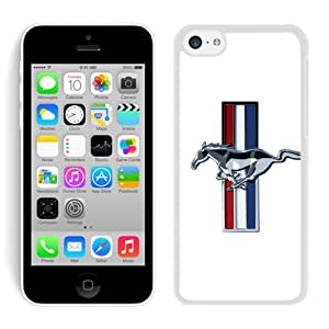 Fashionable Mustang Shelby Cobra 1 White Cell Phone Case for iPhone 5c Generation