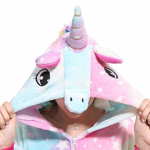 Cosplay Costumi notte Halloween Costume Pigiami Adulti Attrezzatura Unicorno camicie Sky Sport Starry Monopezzi VineCrown Pigiama e da Animale Anime travestimenti FX5OWxw