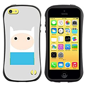 Suave TPU GEL Carcasa Funda Silicona Blando Estuche Caso de protección (para) Apple Iphone 5C / CECELL Phone case / / comic character blue grey cute sweet /