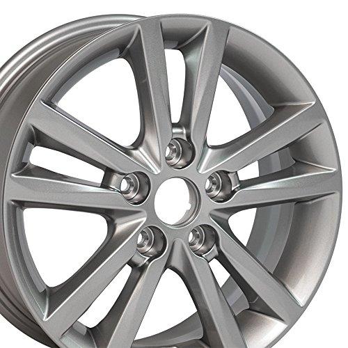 16x6.5 OEM Hyundai Sonata Wheel Fits Hyundai, Kia Silver Rim, Hollander 70866A Kia Sportage Rims