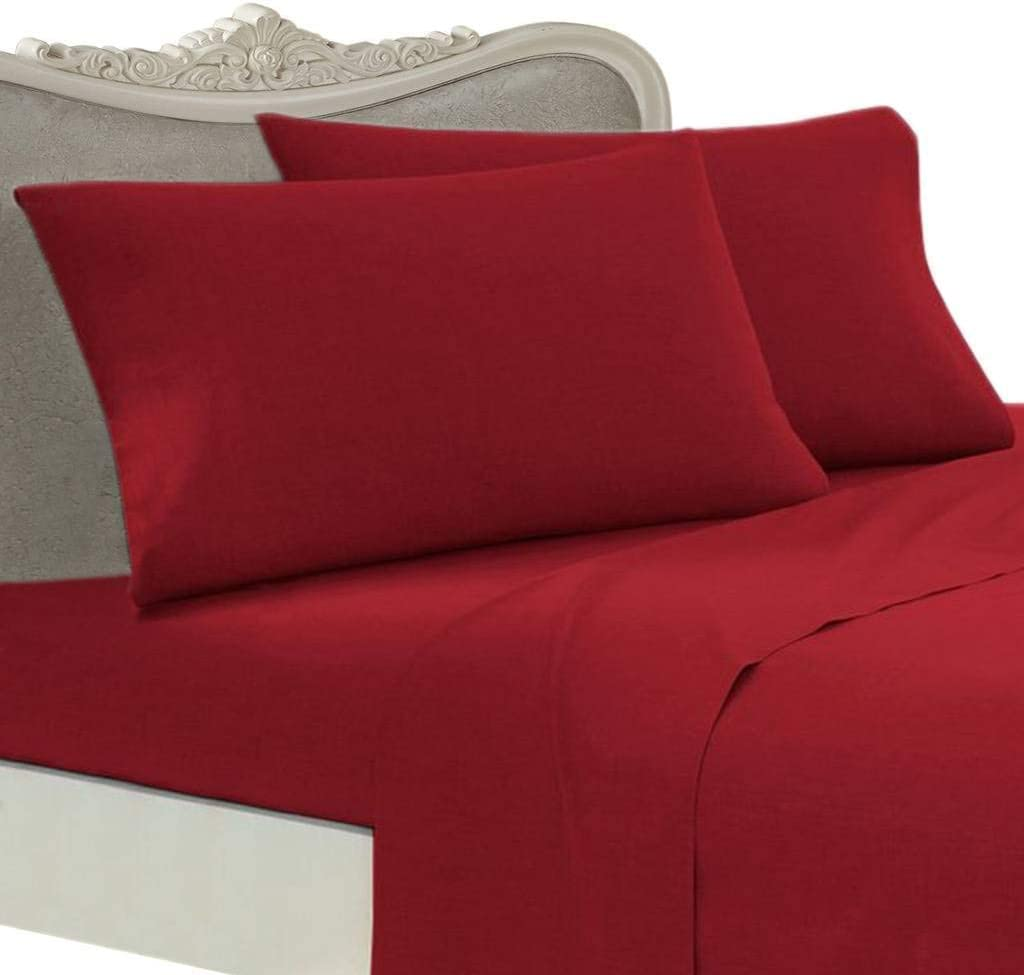 "All Size Bedding Items 15/"" Drop 100/% Egyptian Cotton 1000 TC Burgundy Solid"