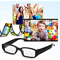 Excelvan Detachable Lenses HD 720P 5MP Mini Camera Digital Video Recorder DV Glasses Eyeglasses Eyewear Camcorder Audio Maximum support 32GB Memeory Card