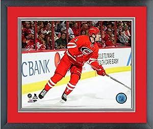 "Noah Hanifin Carolina Hurricanes 2016-2017 NHL Action Photo (Size: 18"" x 22"") Framed"