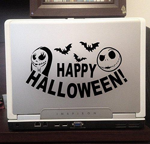 Jack Sally Skellington nightmare before christmas happy Halloween car truck laptop sticker 6 inches (Happy Halloween Jack Skellington)