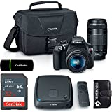 Canon EOS Rebel T6 18MP Wi-Fi DSLR Camera with 18-55mm IS II Lens + EF 75-300mm III Lens + CS100 1TB Connect Station Storage Hub Bundle + SanDisk 32GB Card + Accessories