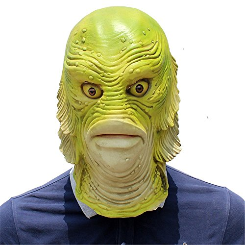 KTYX Halloween Ball Birthday Party Personality Funny Film and TV Set Latex Mask mask (Color : Green)