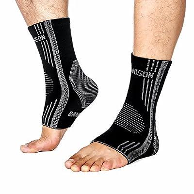 Dr.Anison Bamboo Fibre Plantar Fasciitis Socks Premium Ankle Brace foot Compression Sleeve Thanksgiving Christmas Gift