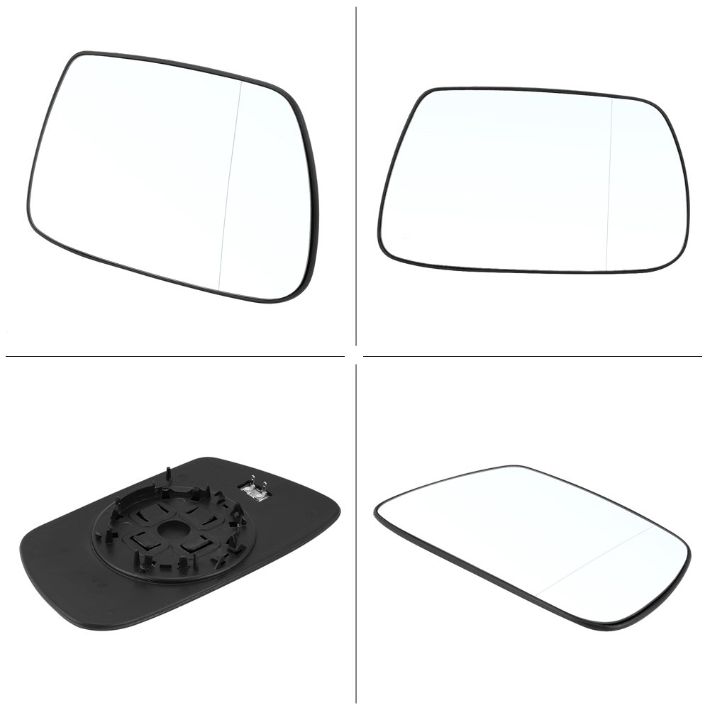 Car Heated Mirror Door Wing Mirror Glass Right Driver Side with Backing Plate Plastic Holder