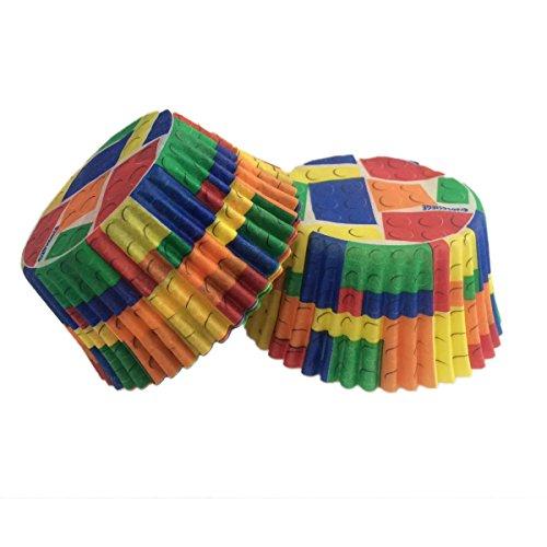 Cupcake Paper Design : Building Bricks Premium Paper Cupcake Liners (32 count ...