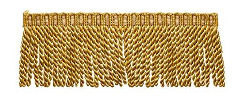 16 Feet Value Pack of 3 Inch Long Bullion Fringe Trim, Style# DB3 - Medium and light Gold - Golden Rays 4875 (5.4 Yards / 5 (Gold Bullion Fringe)