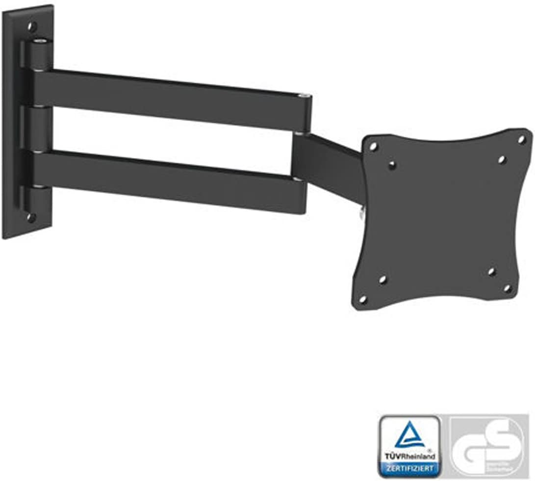Black Full-Motion Tilt Swivel Wall Mount Bracket for Curtis Proscan PLCD2401A 24 inch LCD HDTV TV Television – Articulating Tilting Swiveling