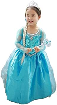Disfraz de Princesa Elsa - Frozen_01 (120 tallaS): Amazon.es ...