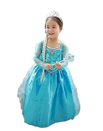 5cc3e3e84c301 Amazon.co.jp: Vogue(ボーグ) アナと雪の女王 エルサ コスプレ ドレス ...