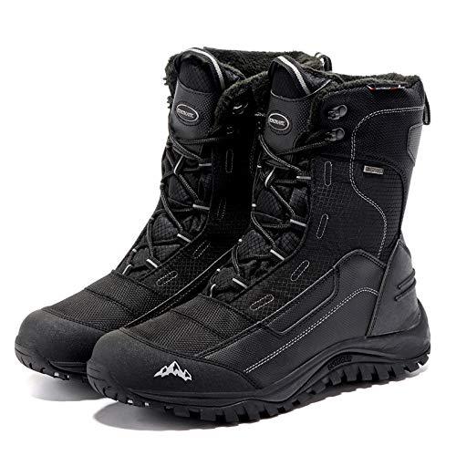 Stivali Stivali Traspiranti Scarpe Invernali Uomo 45 Neve Stivali 39 per per per Impermeabili Uomo Pellicce Invernali Black Moda da Calzature T7XWwz