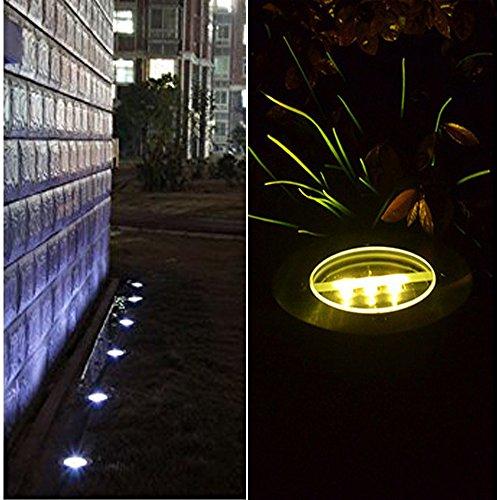 in ground lighting. In Ground Lighting. 4 Pack - Covboa Solar Powered Light Outdoor Lights Waterproof LED Lighting