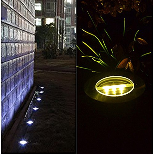 4 pack covboa solar powered ground light outdoor lights for In ground walkway lights